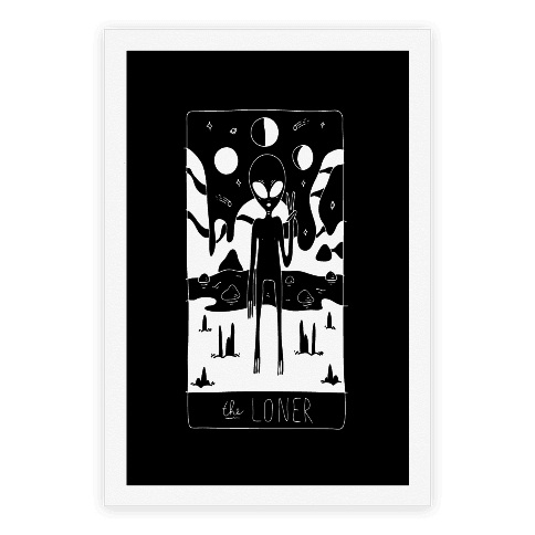 The Loner Tarot Card Poster
