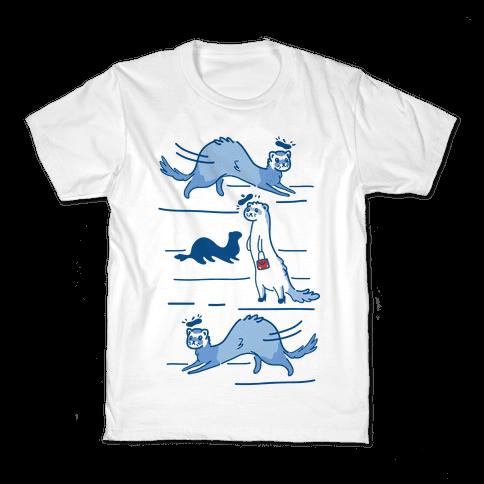 French Fashion Model Ferrets Kids T-Shirt