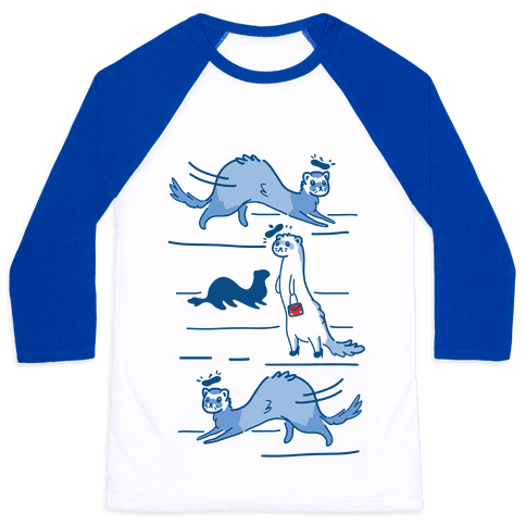 French Fashion Model Ferrets Baseball Tee