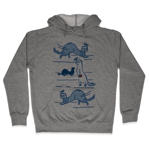 French Fashion Model Ferrets Hooded Sweatshirt