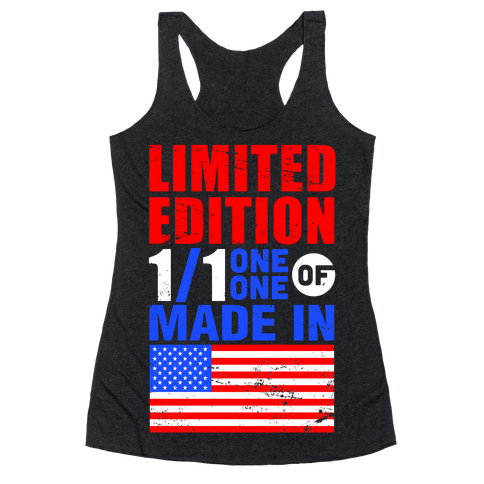 Limited Edition Made In America Racerback Tank Top