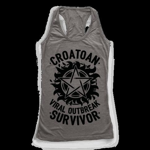 Croatoan Virus Outbreak Survivor Racerback Tank Top