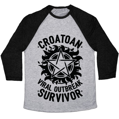 Croatoan Virus Outbreak Survivor Baseball Tee