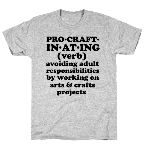 Procraftinating Definition Mens T-Shirt