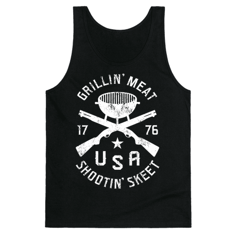 Grillin' Meat Shootin' Skeet Tank Top