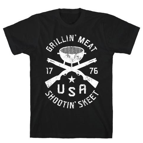Grillin' Meat Shootin' Skeet T-Shirt