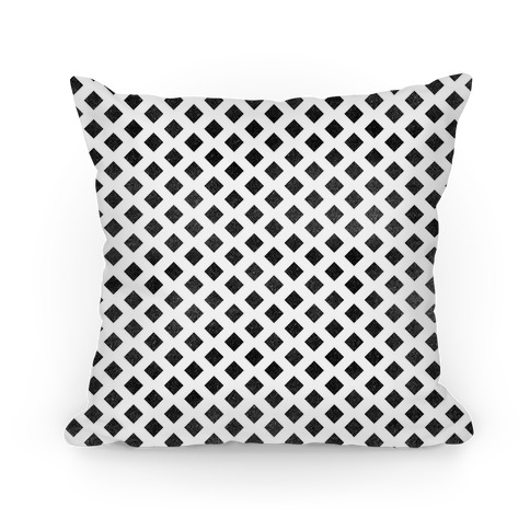 Black Diamond Pattern Pillow