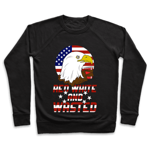Red, White And Wasted Pullover