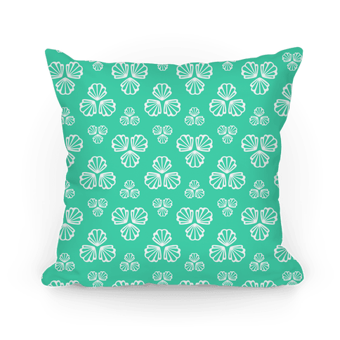 Aqua Green Seashells Pattern