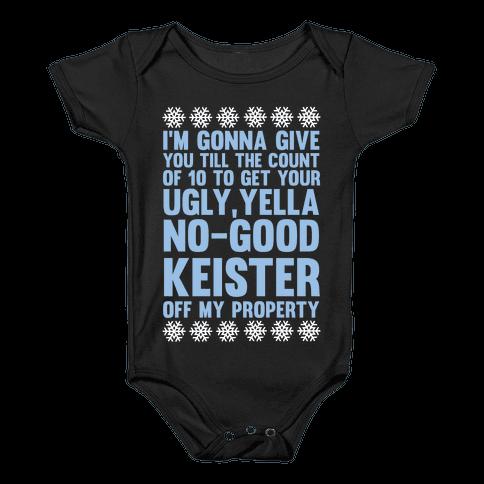 Ugly, Yella, No-Good Keister Baby Onesy