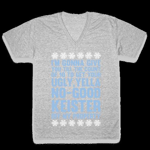 Ugly, Yella, No-Good Keister V-Neck Tee Shirt
