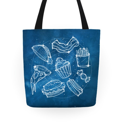 Junk Food Constellation Map Tote