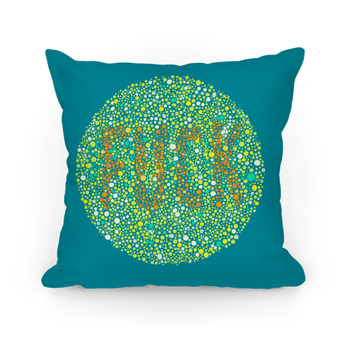 Color Blind Test ( F*** ) Pillow