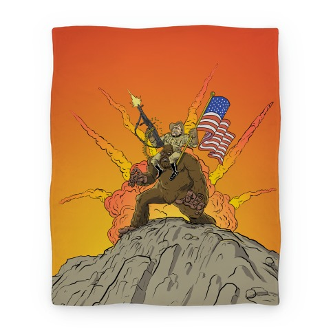 Teddy and Bigfoot: Rough Riders For Life Blanket