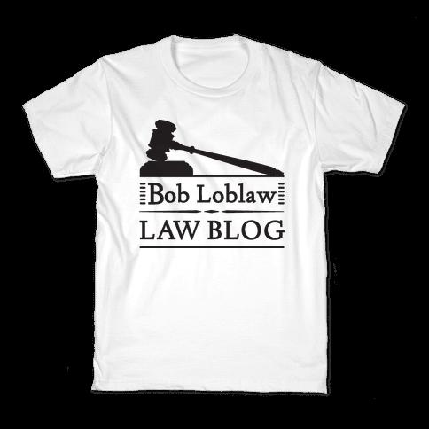 Law Blog Kids T-Shirt