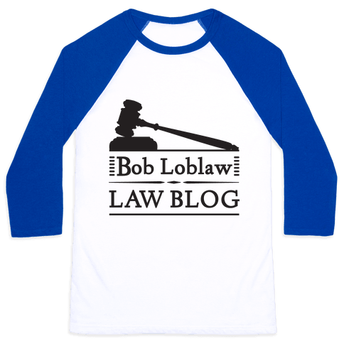 Law Blog Baseball Tee