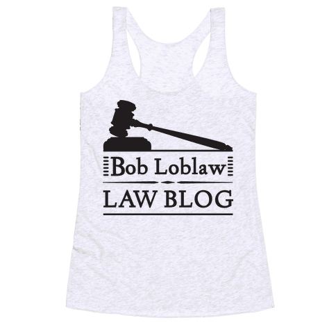 Law Blog Racerback Tank Top
