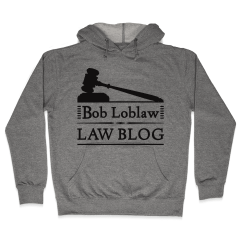 Law Blog Hooded Sweatshirt