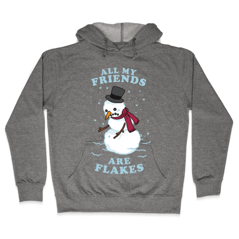All My Friends Are Flakes Hooded Sweatshirt