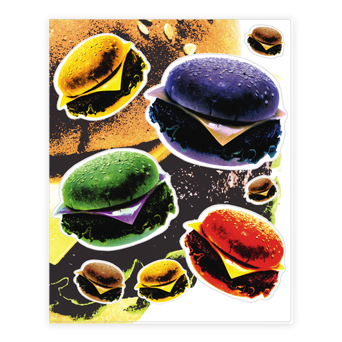Cheeseburger  Sticker/Decal Sheet