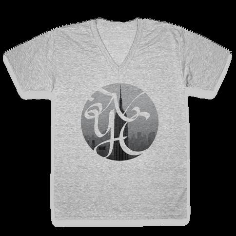 NYC V-Neck Tee Shirt