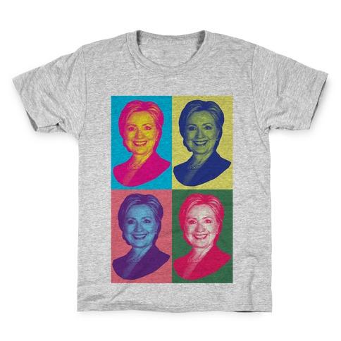 Pop Art Hillary Clinton Kids T-Shirt