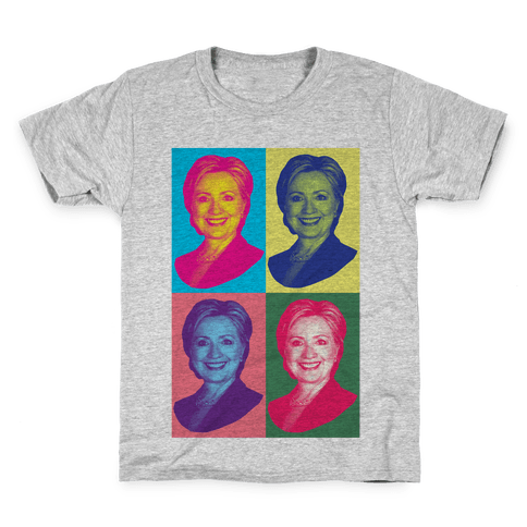 Pop Art Hillary Clinton Kids T-Shirt