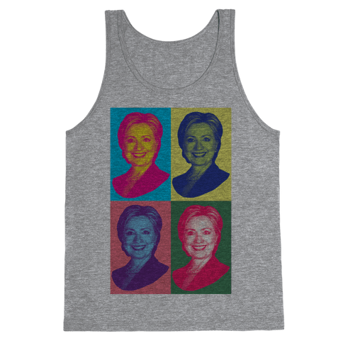 Pop Art Hillary Clinton Tank Top