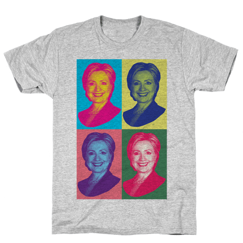 Pop Art Hillary Clinton Mens T-Shirt