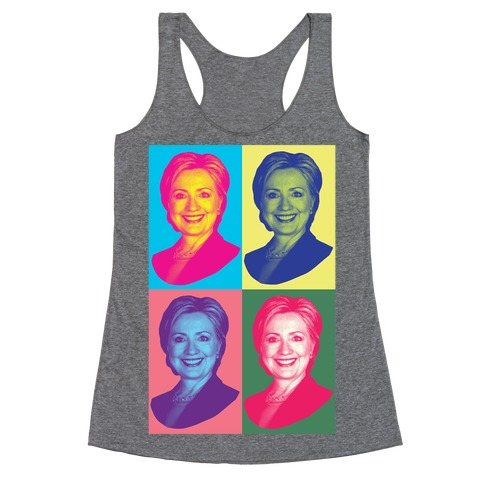 Pop Art Hillary Clinton Racerback Tank Top