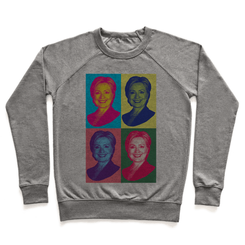 Pop Art Hillary Clinton Pullover