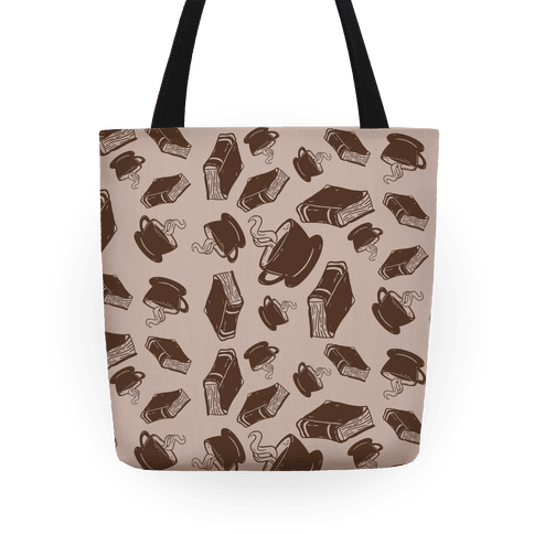 Coffee And Books Pattern Tote