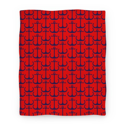 Anchor Pattern Blanket (Red) Blanket