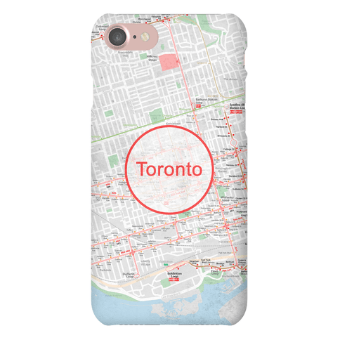 Toronto Transit Map Phone Case
