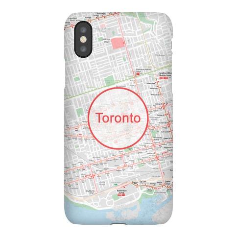 Toronto Transit Map Phone Case