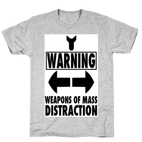 WARNING: Weapons of Mass Distraction (Tank) T-Shirt