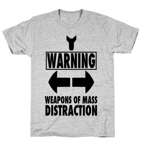 WARNING: Weapons of Mass Distraction (Tank) Mens T-Shirt