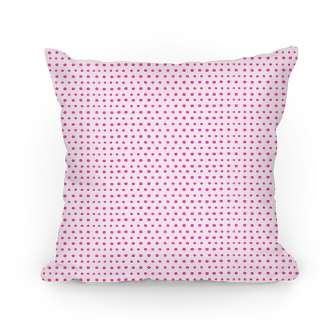 Pink Dot Pattern Pillow