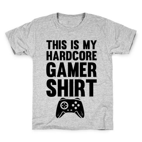 This Is My Hardcore Gamer Shirt Kids T-Shirt