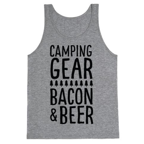 Camping Gear, Bacon, & Beer Tank Top