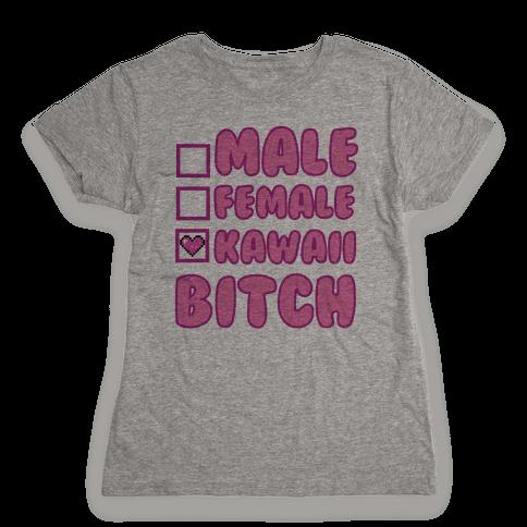 Kawaii Bitch Womens T-Shirt