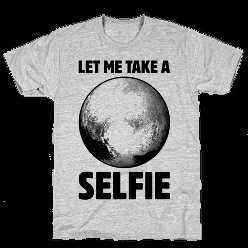 Pluto Selfie Mens T-Shirt