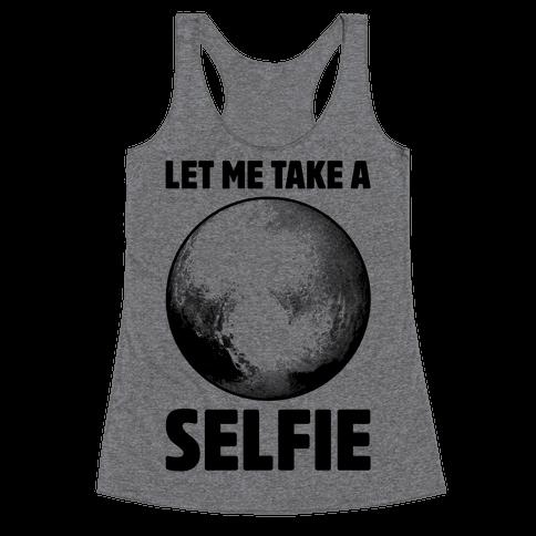 Pluto Selfie Racerback Tank Top
