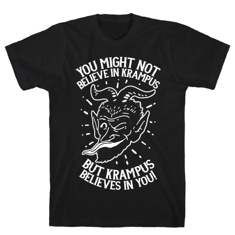 Krampus Believes in You Mens T-Shirt
