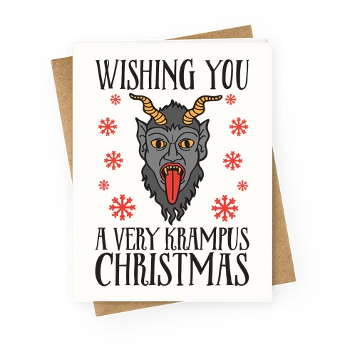 Wishing You A Very Krampus Christmas Greeting Card