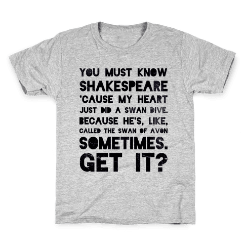You Must Know Shakespeare Kids T-Shirt