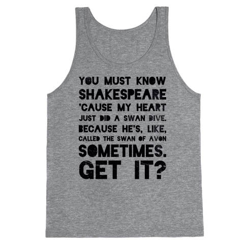 You Must Know Shakespeare Tank Top