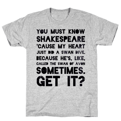 You Must Know Shakespeare Mens T-Shirt