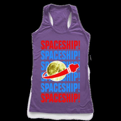 Spaceship! Racerback Tank Top