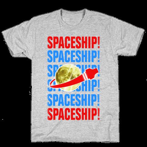 Spaceship! Mens T-Shirt